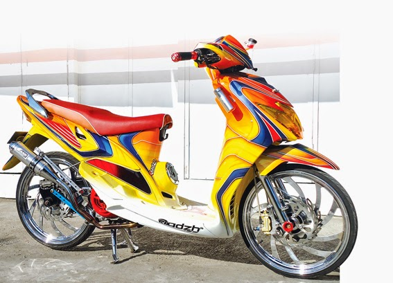 Gambar Modifikasi Motor Yamaha Mio 2014