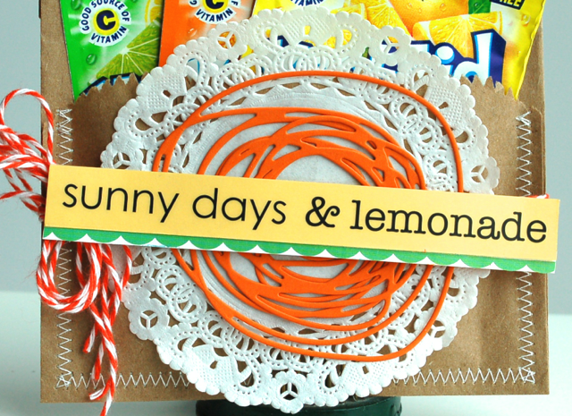 SRM Stickers Blog - Sunny Days & Lemonade by Diane - #kraft bags #twine #stickers #summer #gift #borders