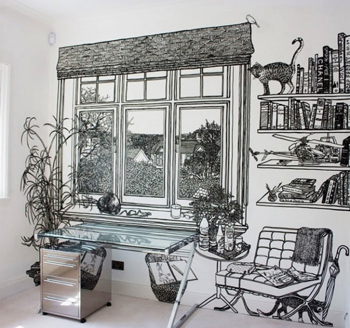 11-Artist-Charlotte-Mann-Draw-on-Walls-www-designstack-co