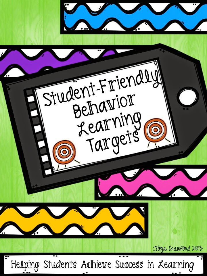 http://www.teacherspayteachers.com/Product/Student-Friendly-Behavior-Learning-Targets-833323