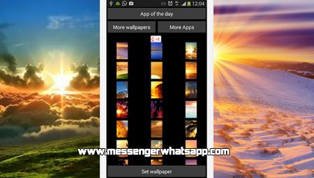 Nuevos fondos con Sunset Wallpapers for WhatsApp
