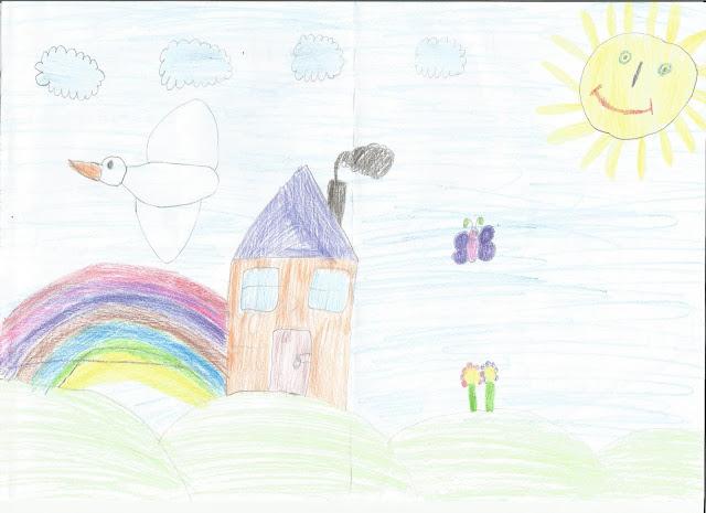 """Rysunek Mojej Małej Ewy pt. """"Marzenie rodzinnego domu"""""""