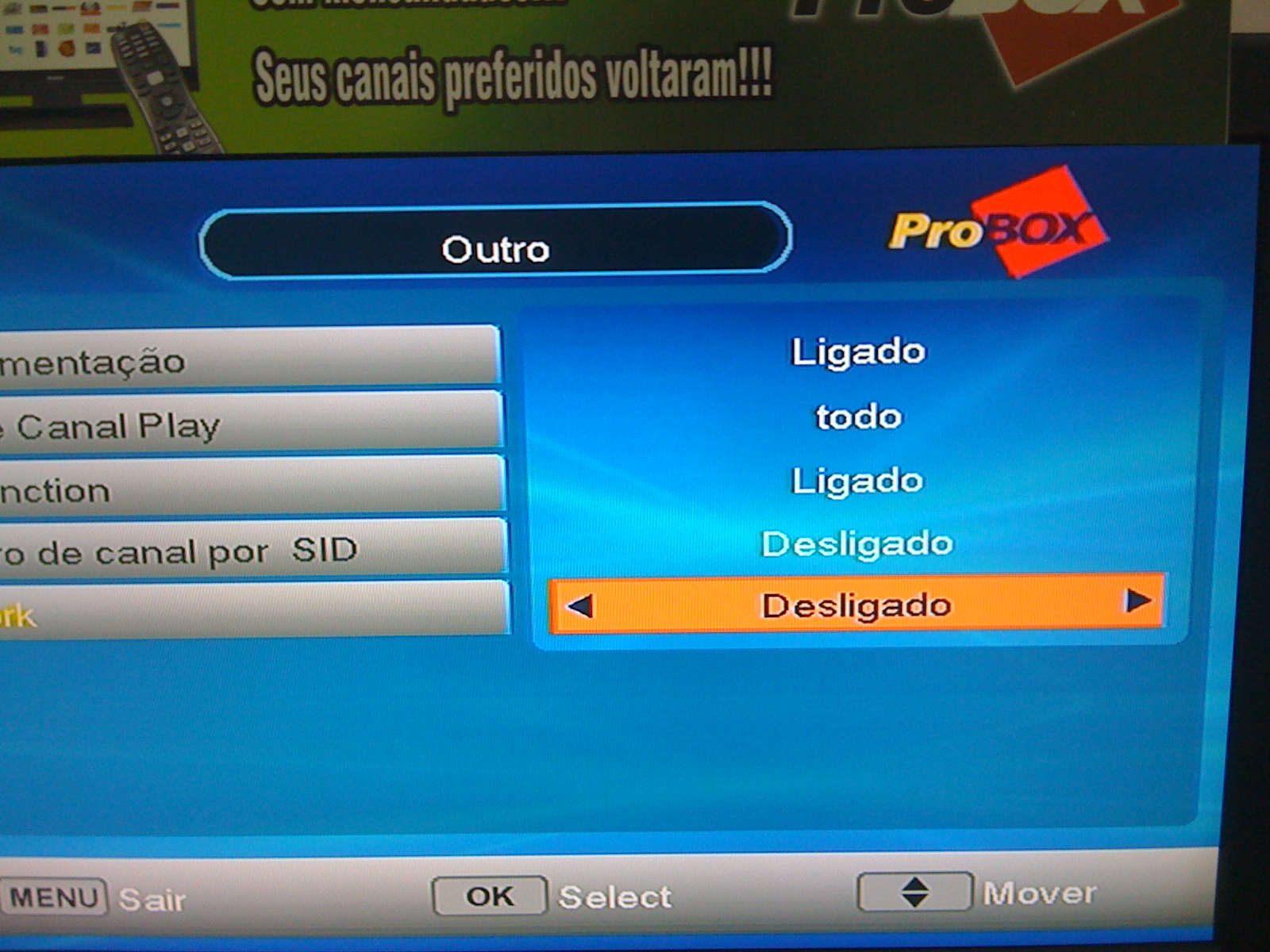 TUTORIAL PRO ONE NOS RECEPTORES PROBOX 530/630/830/930