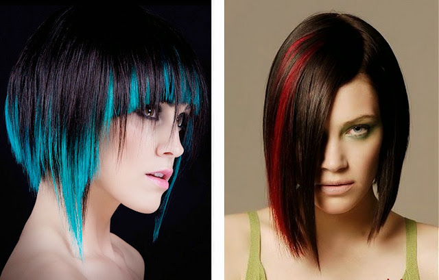 hair color ideas for short hair two color