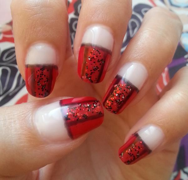 Red Glitter Nail Design Polishorbeauty