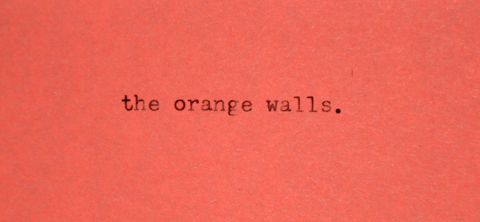 The Orange Walls