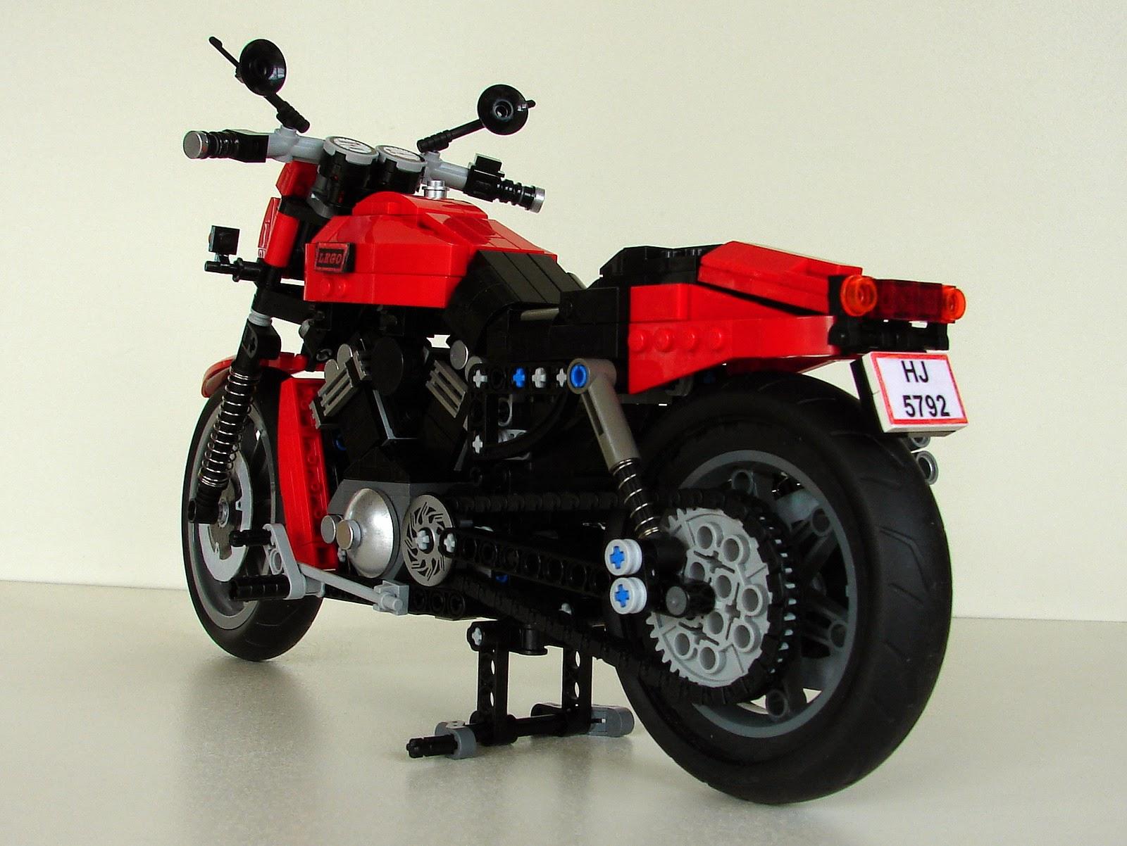 lego technic motorcycles moc harley davidson v rod by. Black Bedroom Furniture Sets. Home Design Ideas