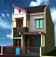 Desain Rumah Minimalis Dengan Harga Minim 2 Lantai Type 36