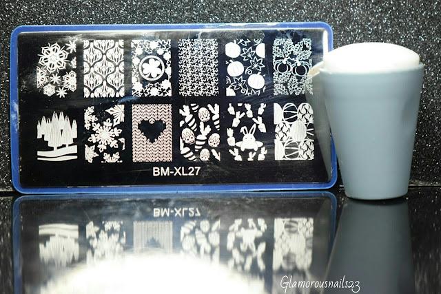 Bundle Monster BM-XL27 Stamping Plate, Bundle Monster Mega Squishy Silicone Stamper