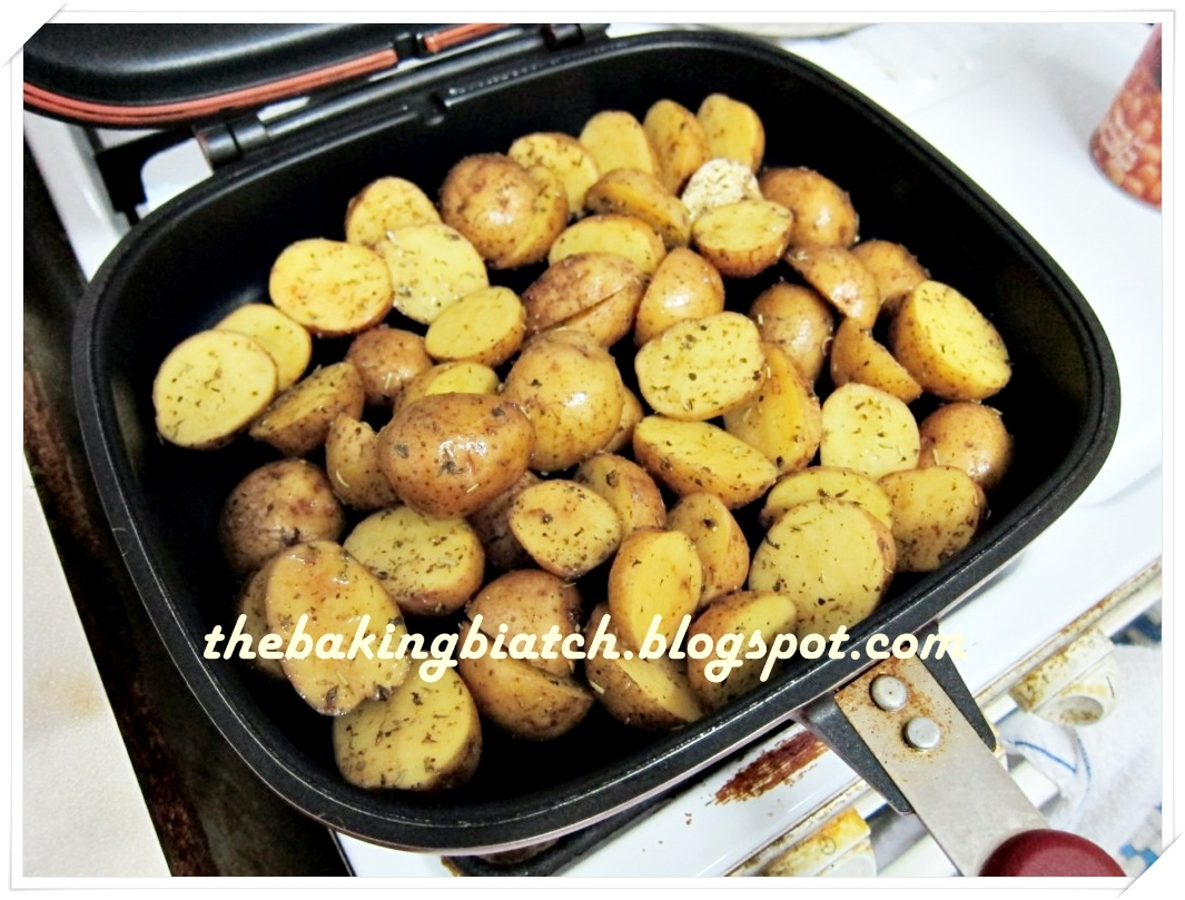 Pour Potatoes Into Happy Call Pan And Snap The Cover Close Cook The  Potatoes For About 20 Minutes Or Till Potatoes Are Cooked To Your