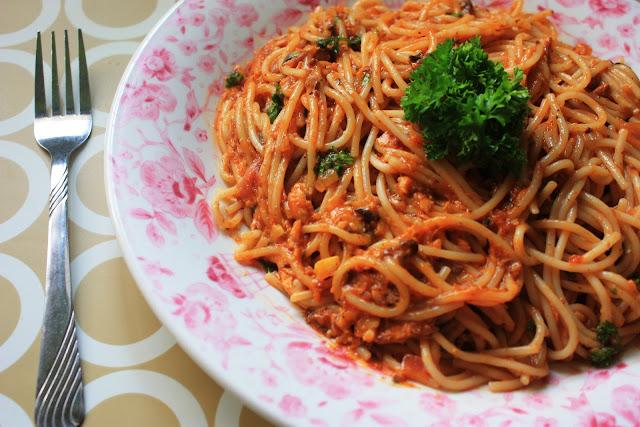 Curried Sardine Spaghetti