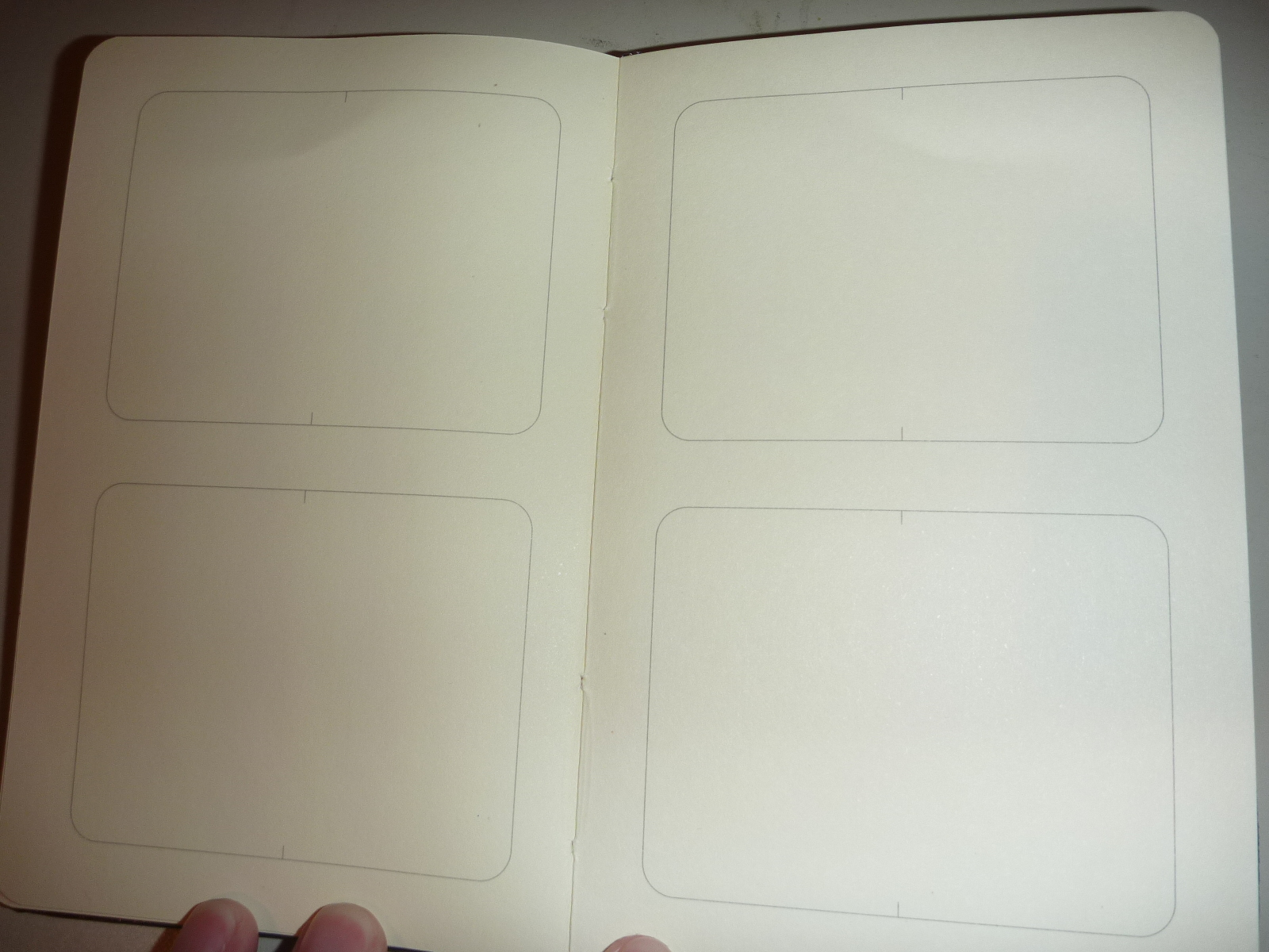 ethereal voices story art progress blog review moleskine pocket the notebook came in two sections two large rectangles on one page