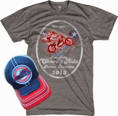 Remember that you can click here to win an Kyle Petty Autographed Event T-Shirt and Cap!