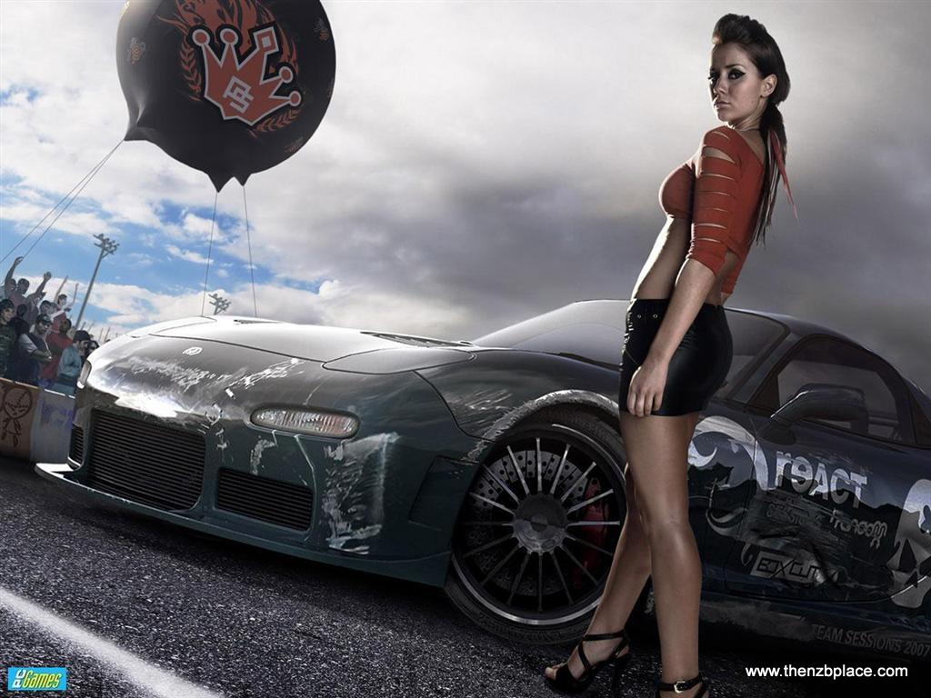 NFSU Car Girl Wallpaper Desktop PC Picture Racing Game Cargirl 32F2VWE8SUSM
