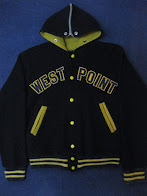 画像①                50's 「WEST POINT」               NYLON FLEECE JACKET WITH HOODED
