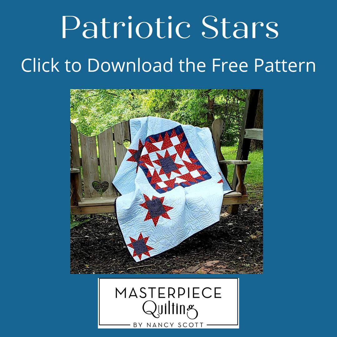 Free Patriotic Stars Quilt Pattern