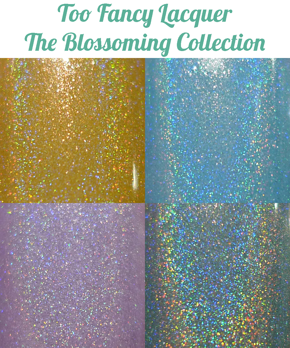 Too Fancy Lacquer The Blossoming Collection collage