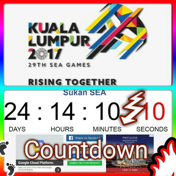 Count Down. Seagames 2017 MALAYSIA BOLEH