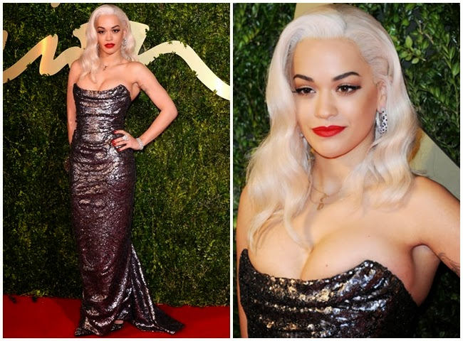 2014 Golden Bell Awards: Tien Hsin wore the same gown with Rita Ora