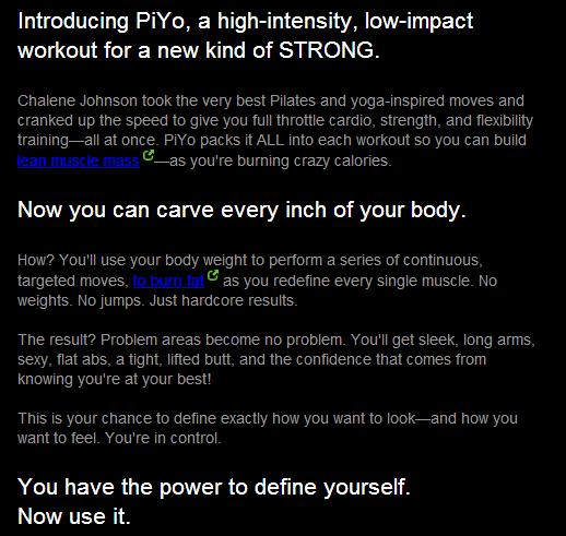 piyo, piyo live, piyo workout