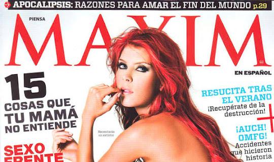 Mara Roldan Revista Maxim Mexico Agosto 2011