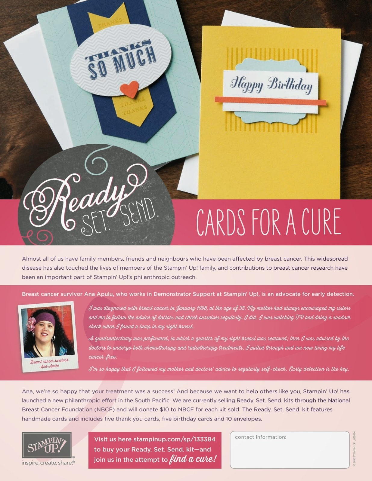 Ready. Set. Send. Cards for a Cure