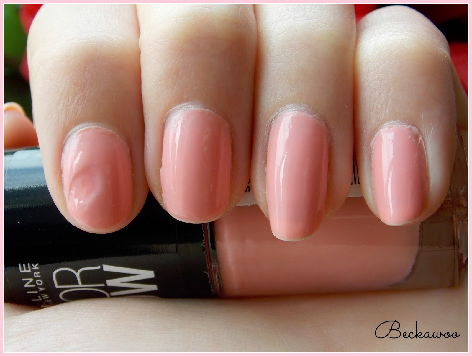 NOTD // Maybelline Peach Smoothie | Beckawoo