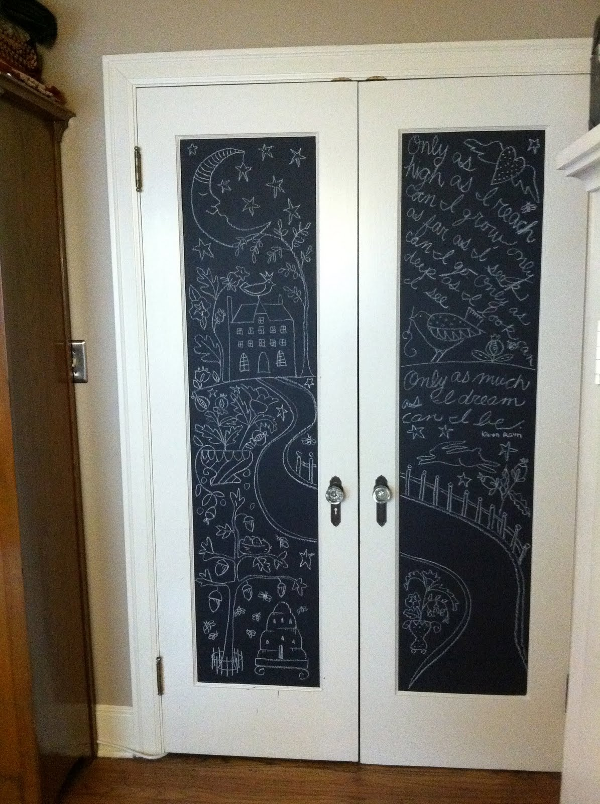 Chalkboard Paint On Closet Doors Images Doors Design Modern