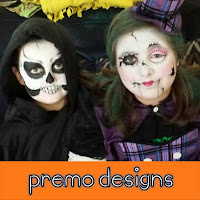 Skeleton and Broken Doll Face Paint by Premo Designs