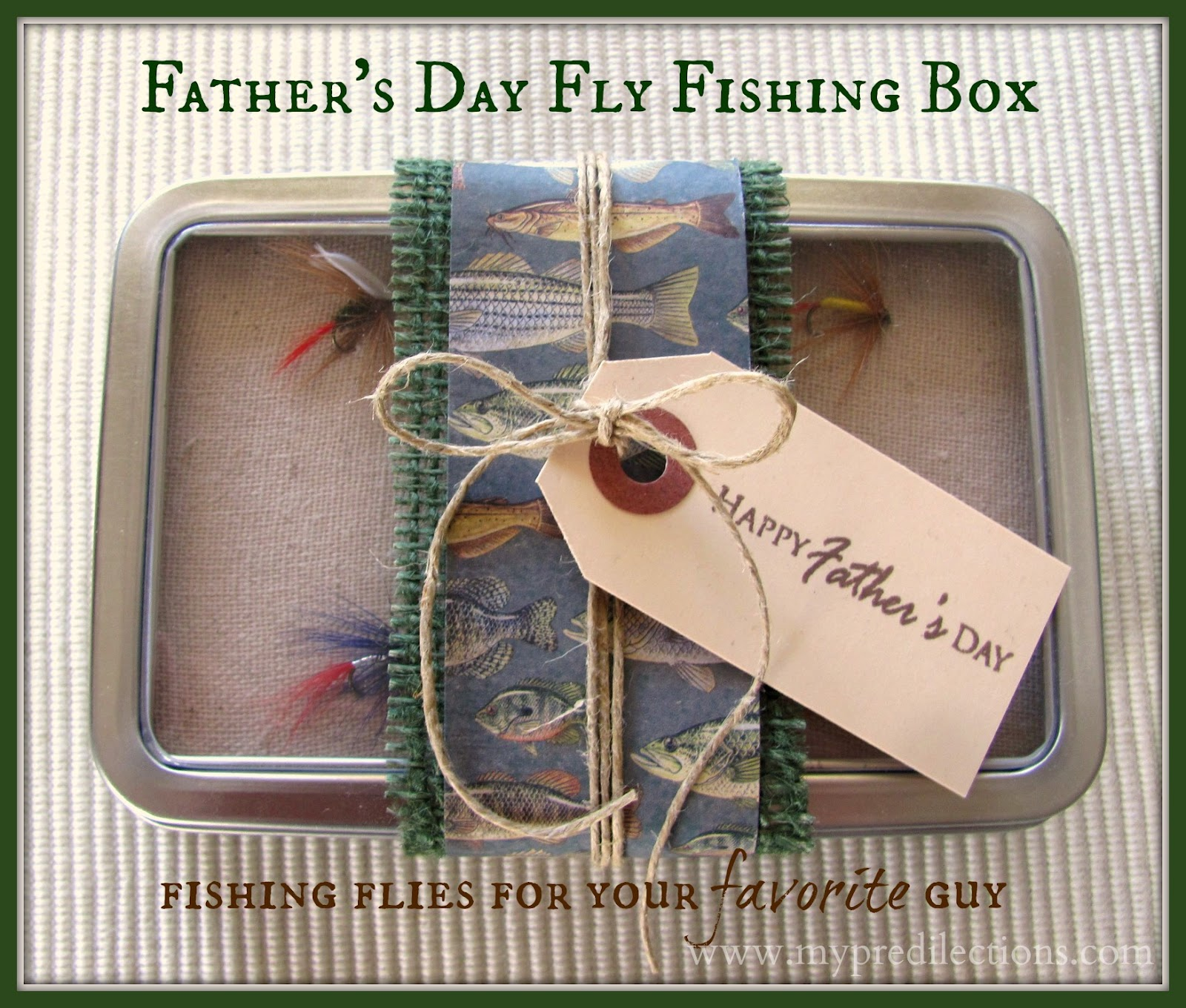 Father 39 s day gift idea fly fishing box fathersday for Fishing gifts for dad