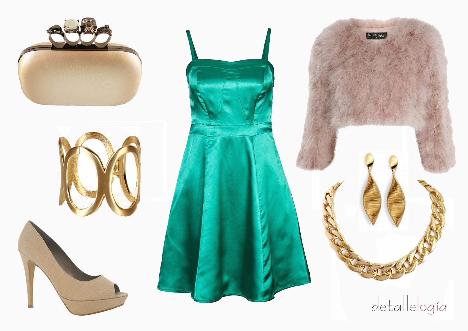 Complementos para vestido verde turquesa