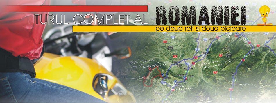 Turul complet al Romaniei pe 2 roti si 2 picioare