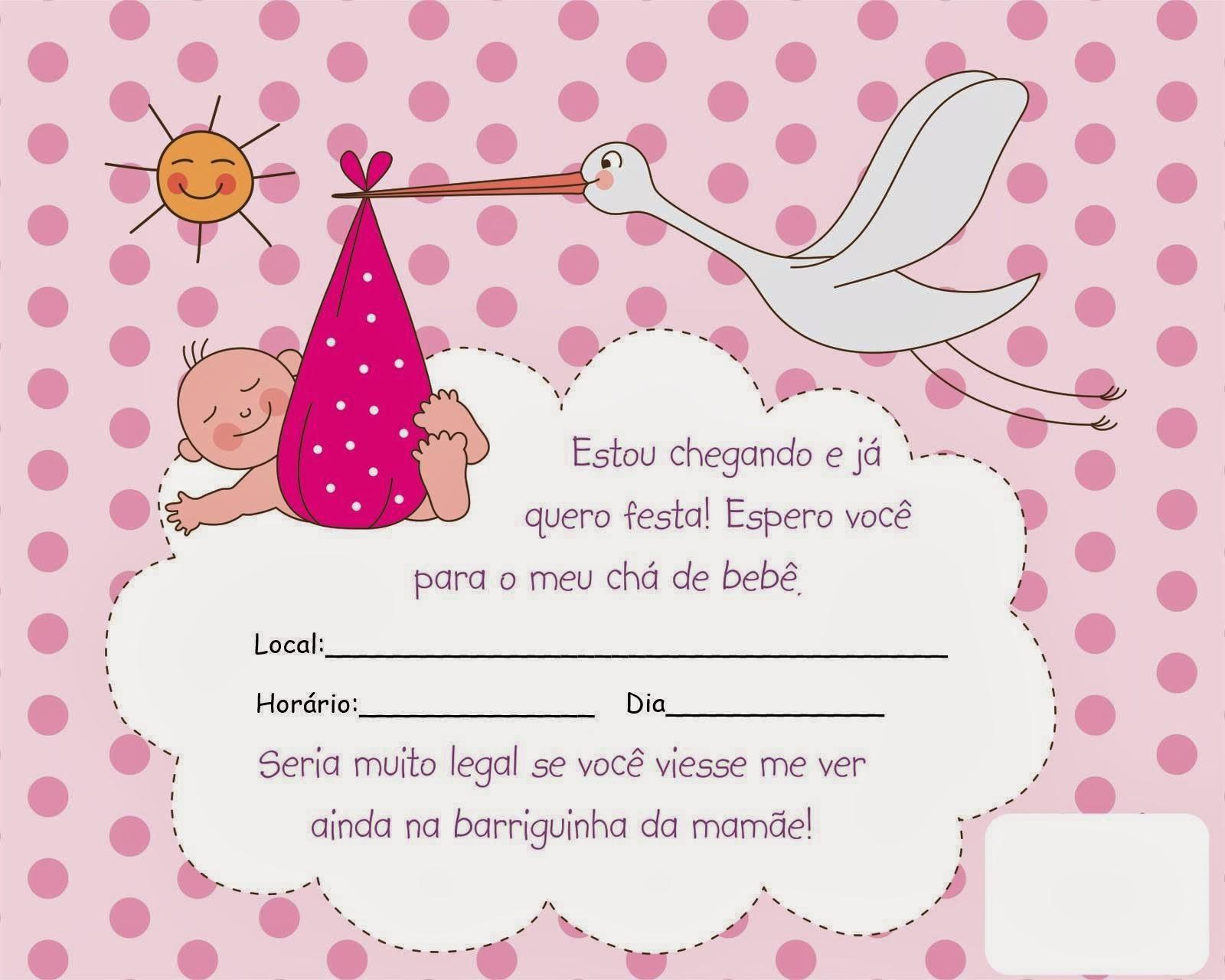Como fazer convite para chá de bebê 14