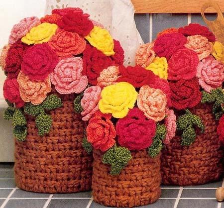 Вязание вазы для цветов крючком