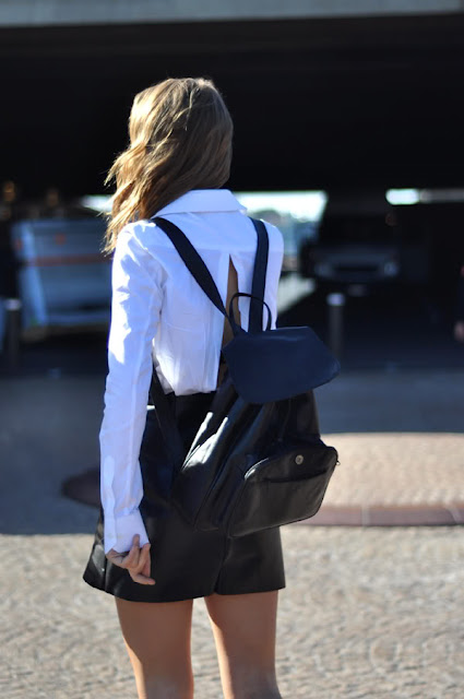 NYFW Fashion Week Street Style Backpack