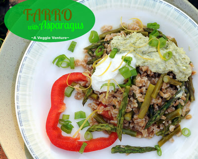 Farro with Asparagus & Green Onion Sauce