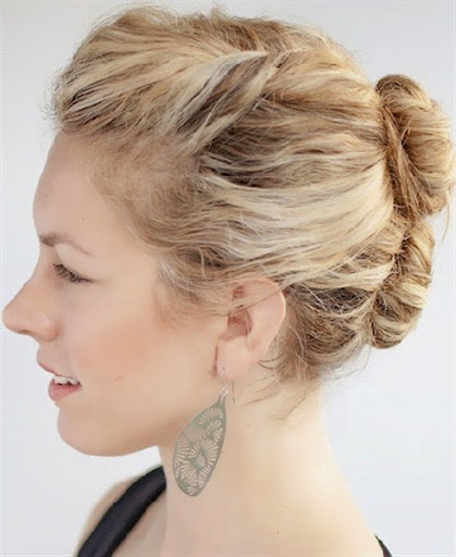 short hair bun models for women trends 2015