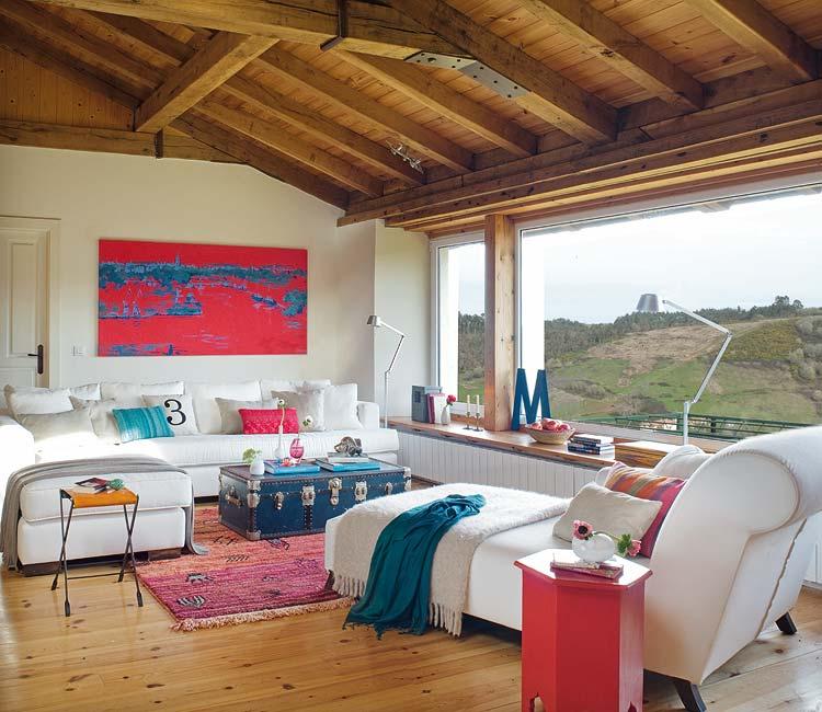 Achados de decoracao casa de campo decorada com cor for Decoracion rustica moderna