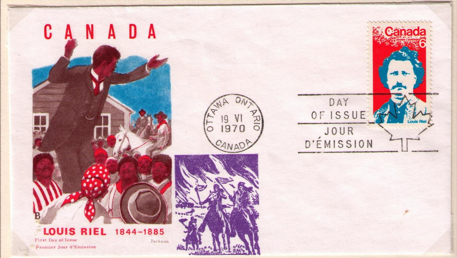 postal history corner louis riel h and e