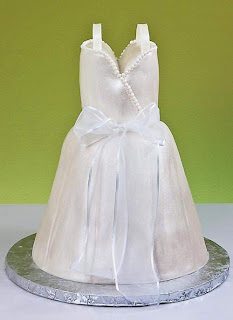 Unique Wedding Dress Cake Images
