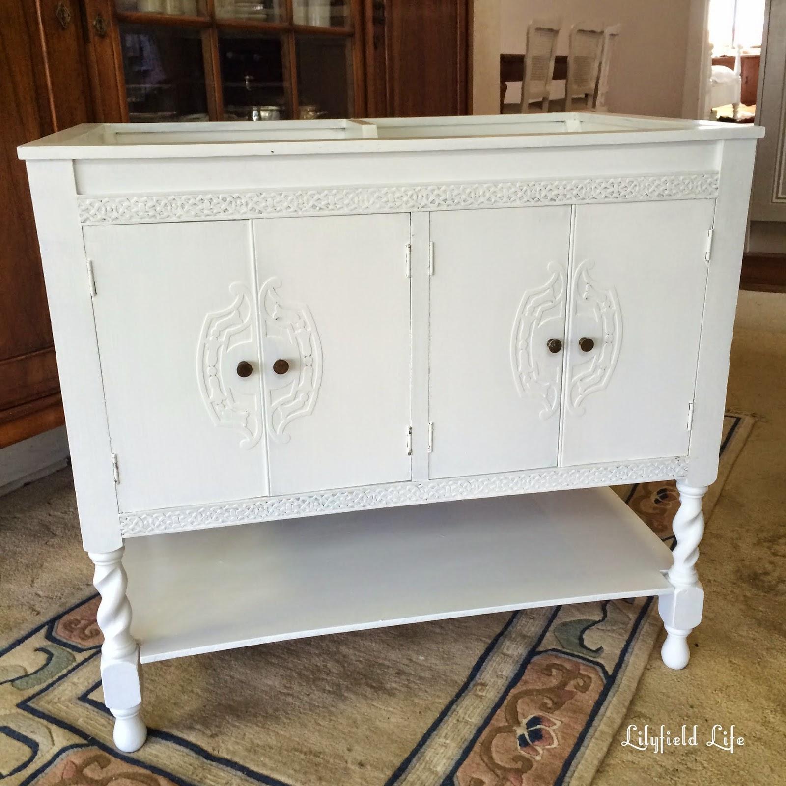 bathroom vanity vintage cabinet