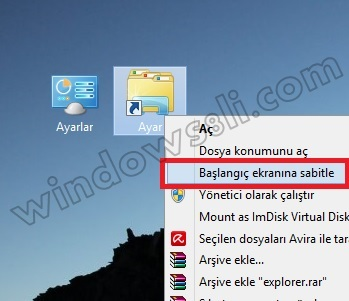 Windows 8 Tanrı Modu