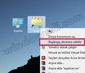 Windows 8 Tanrı Modu