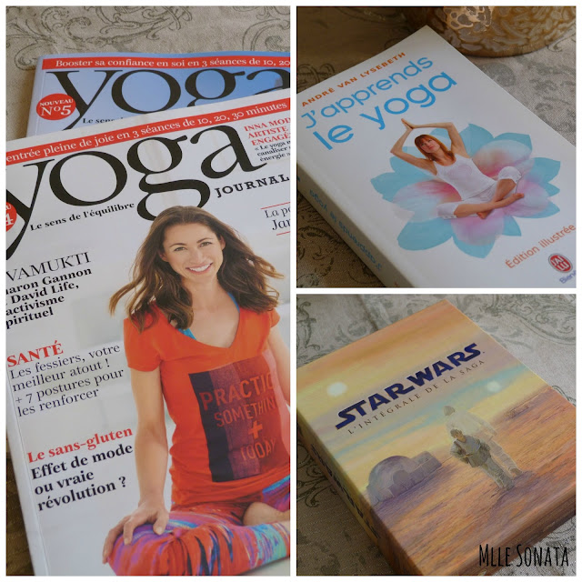 Magazine Yoga Journal France, Saga Star Wars en DVD et livre de poche J'apprends le Yoga de André Van Lysebeth