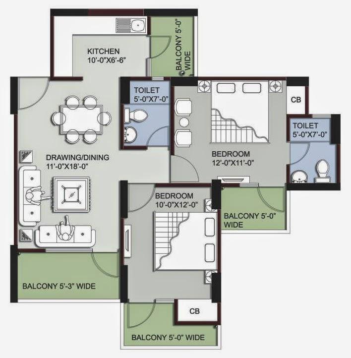 Supertech Ecovillage 3 floor plan