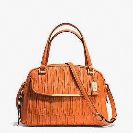 COACH Madison Gathered Leather Small Georgie Satchel 30086