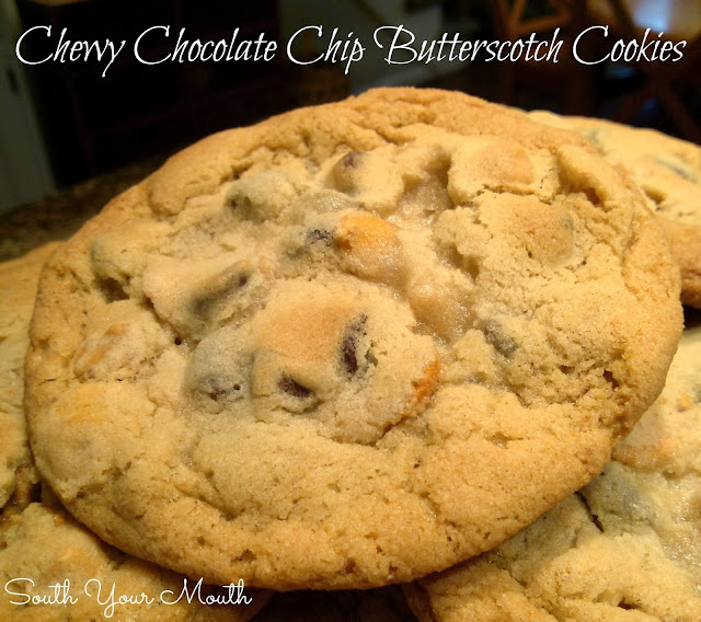 South Your Mouth: Chewy Chocolate Chip Butterscotch Cookies