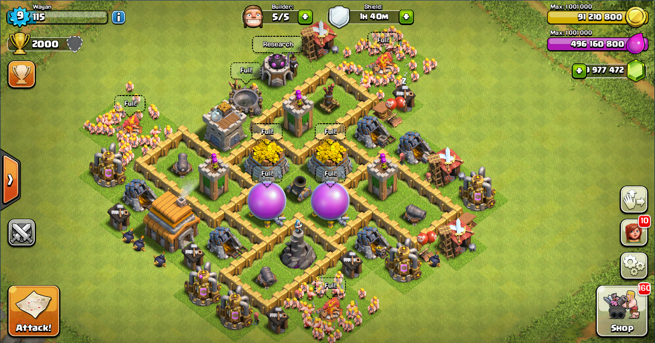 Farming Base Clash Of Clans TH 5 - Design Base Clash Of Clans Terbaik