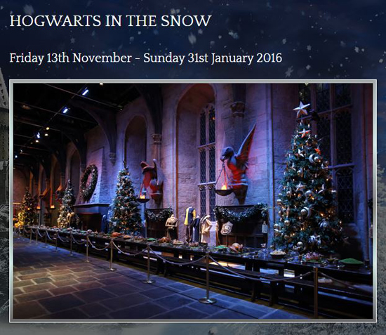 Warner Bros Harry Potter Studio Tour - Hogwarts in the Snow