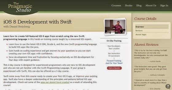ThePragmaticStudio − iOS 8 Development with Swift